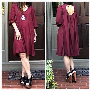 Dresses & Skirts - Burgundy beautiful swing dress
